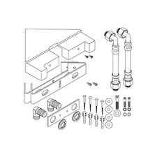 <strong>Hansgrohe</strong> Corner Mounting Kit for Lift Sat