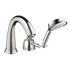 <strong>Hansgrohe</strong> Swing C Single Handle Dual Function Roman Tub Faucet and Hand Shower