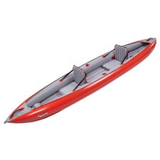 Sunny EX Inflatable Kayak in Red / Gray