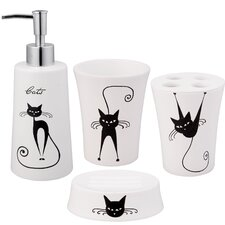 <strong>Jovi Home</strong> Cats 4 Piece Bath Accessory Set