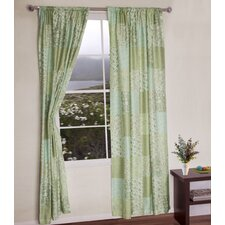Flower Garden Patchwork Curtain Panel