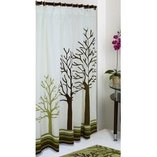 Woodland Cotton Shower Curtain