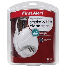 Lithium Battery Smoke Alarm with Silence Feature