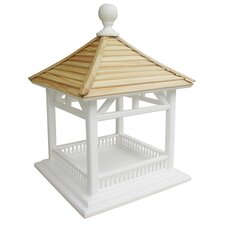 Dream House Bird Feeder with Pine Shingle Roof in Victorian White