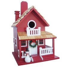 Holiday Offerings Christmas Cottage Birdhouse