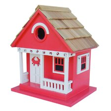 Beachcomber Crab Cottage Hanging Birdhouse