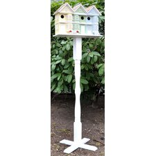 Pedestal Victorian Novelty Birdhouse Column with Auger