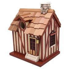 The Queen's Hamlet Guest Cottage Free Standing Birdhouse