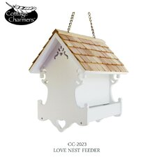 <strong>Home Bazaar</strong> Cottage Charmer Series Love Nest Bird Feeder