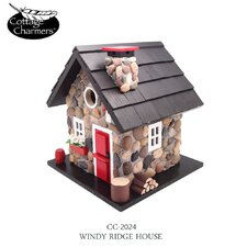 <strong>Home Bazaar</strong> Cottage Charmer Series Windy Ridge Free Standing Birdhouse