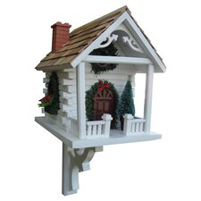 Classic Series Christmas Cabin Birdhouse