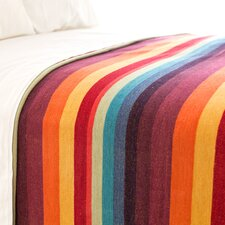 Montego Stripe Chenille Cotton Blanket