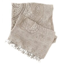 Sarva Paisley Wool Throw