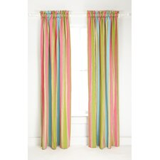Cabana Stripe Cotton Rod Pocket Curtain Single Panel