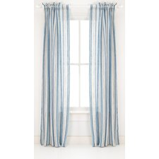 <strong>Pine Cone Hill</strong> Honfleur Linen Rod Pocket Curtain Single Panel