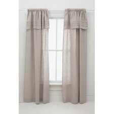 Pleated Linen Curtain Panel