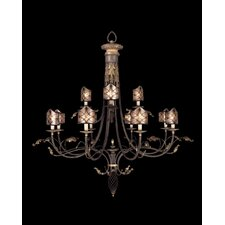 <strong>Fine Art Lamps</strong> Villa 1919 Twelve Light Chandelier in Rich Umber