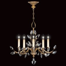 <strong>Fine Art Lamps</strong> Crystal Laurel Gold 5 Light Chandelier