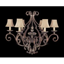 <strong>Fine Art Lamps</strong> Stile Bellagio Six Light Chandelier in Tortoised Leather Crackle
