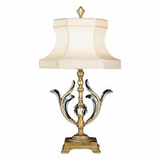"Beveled Arcs Gold 38"" H 1 Light Table Lamp"