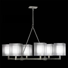 Quadralli 6 Light Oblong Chandelier