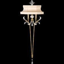 "Beveled Arcs Gold 68"" Two Light Wall Sconce"