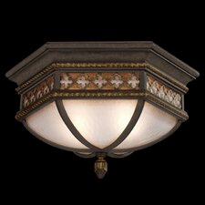 <strong>Fine Art Lamps</strong> Chateau 2 Light Outdoor Flush Mount