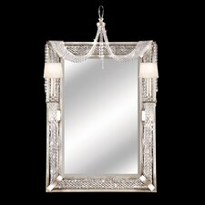 Cascades Two Light Mirror in  Silver Leaf