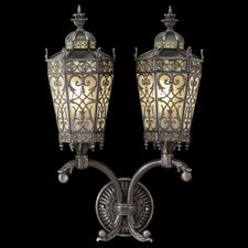 Conservatory 2 Light Outdoor Wall Lantern