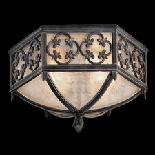 Costa Del Sol 2 Light Outdoor Flush Mount