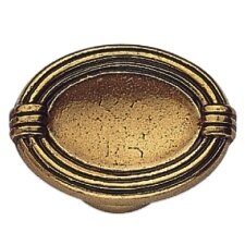 "French Antique 0.79"" Oval Knob"
