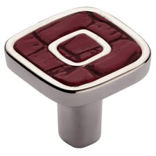 "Jungle Touch 1.18"" Red Eco-Leather Knob"