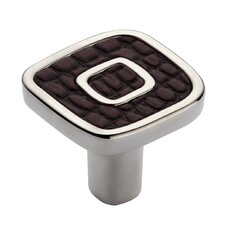 "Jungle Touch 1.18"" Dark Brown Eco-Leather Knob"