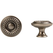 "Louis XVI 1.18"" Round Knob in Old Iron"