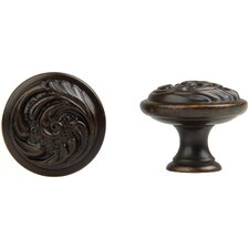 Louis XV Round Knob in Oil Rubbed Bronze