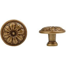 Louis XVI Round Knob in Dark Antique Brass