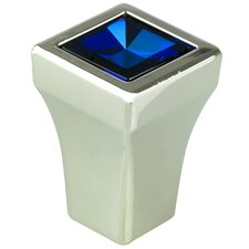 "Swarovski Crystal 0.5"" Square Knob"