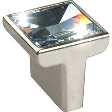 "Swarovski Crystal 1.18"" Square Knob"