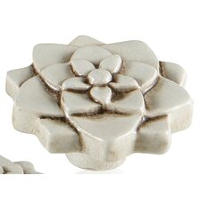 "Ceramic Knobs 1.78"" Floral Knob"