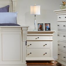 Soraya 3 Drawer Nightstand