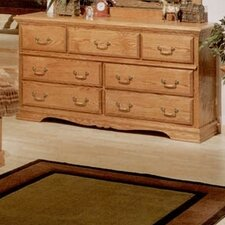 Country Heirloom 7 Drawer Dresser
