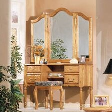 <strong>Bebe Furniture</strong> Country Heirloom Vanity with Mirror