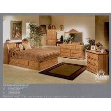 Country Heirloom Pier Bookcase Headboard Only in Medium Wood