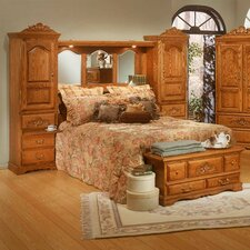 Country Heirloom Storage Platform Bed