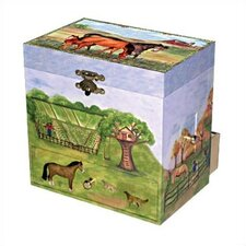 "Horse Ranch 6"" High Treasure Jewelry Box"