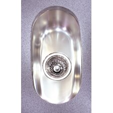 "Prestige 15.75"" x 8.63"" Undermount Single Bowl Kitchen Sink"