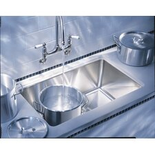"Professional 31.5"" x 18"" x 9.5"" Series Single Bowl Kitchen Sink"