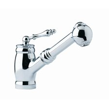 Farm House Single Handle Single Hole Kitchen Faucet with Side Spray