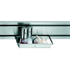 Rail System Multipurpose Shelf in Stainless Steel