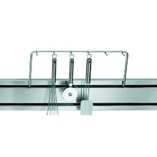 Rail System Railing with Hooks in Stainless Steel